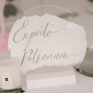 ILLUMINOGRAPHY - Personalised Perspex Table Numbers