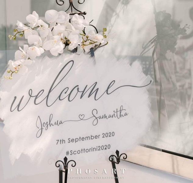 ILLUMINOGRAPHY - Personalised Perspex Welcome Sign