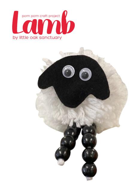 Pom pom lamb craft activity