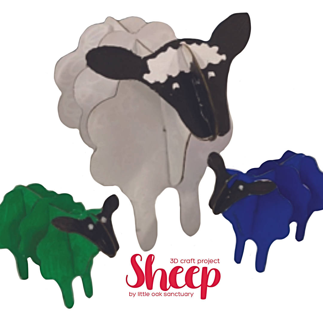 3D Sheep Craft Activity