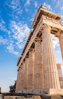 Doric columns of the Parthenon at the Ac