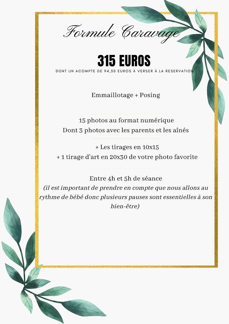 Vert et Or Case Bordure Géométrique Floral Mariage Menu (16).jpg