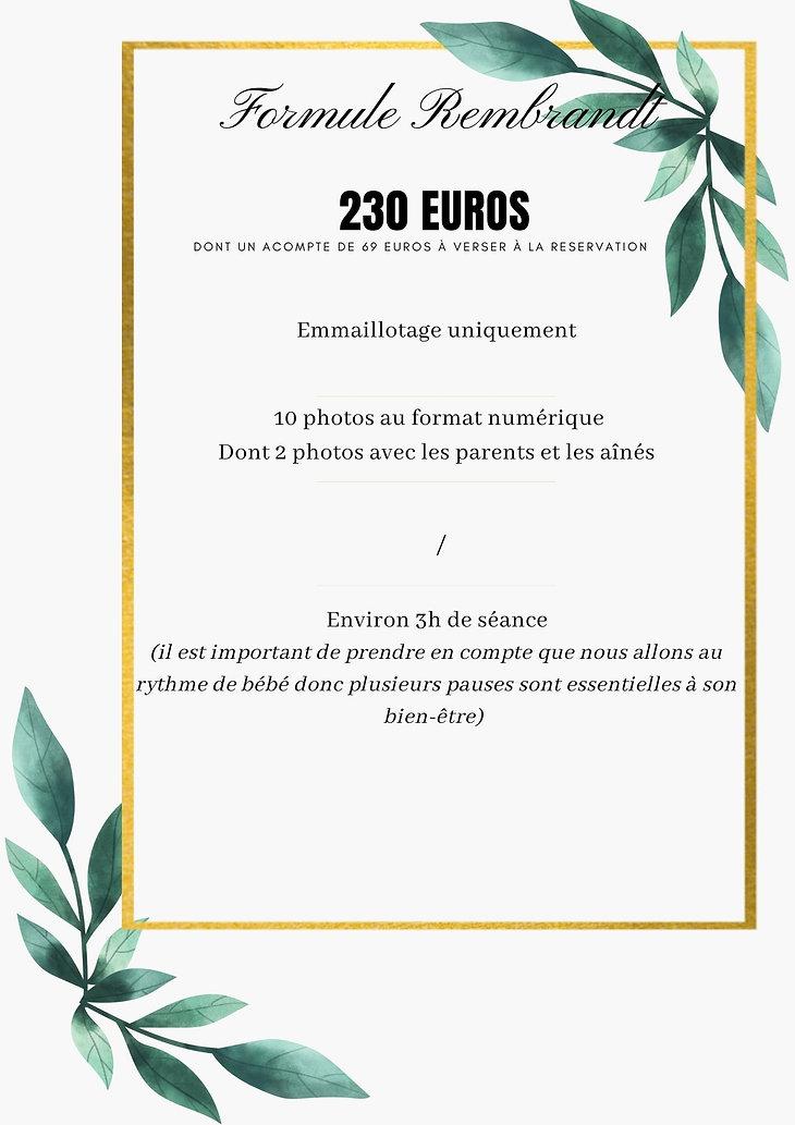 Vert et Or Case Bordure Géométrique Floral Mariage Menu (17).jpg