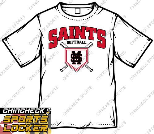 Saints Softball UA LOCKER TEE