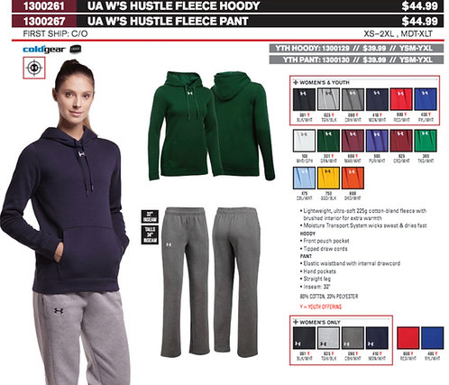 UA Womens Hustle fleece Hoody