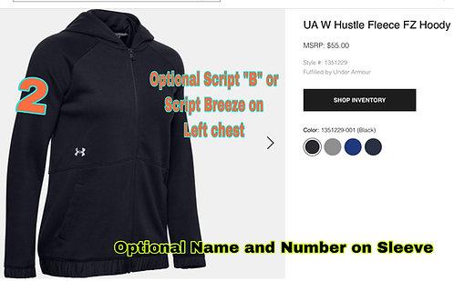 Breeze UA WOMENS Full Zip Hooded Fleece