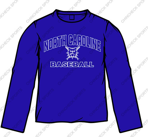North Caroline Baseball Long Sleeve Tee