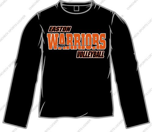Cotton Long Sleeve Tee Easton Volleyball