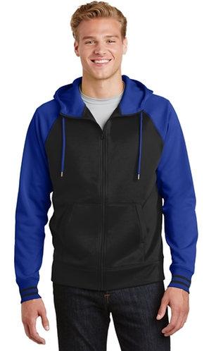 Sport Tek varsity wick fleece full zip jacket