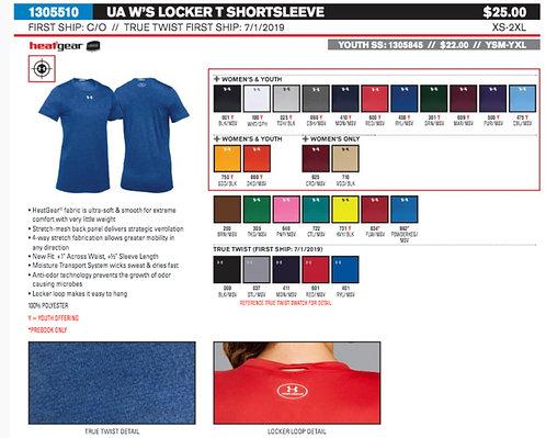 UA Womens Short Sleeve Locker Tee 2.0