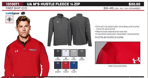UA Mens Hustle Fleece 1/4 Zip