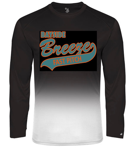 Badger OMBRÉ L/S WICKING TEE