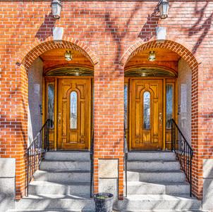 Spring Street wood front doors