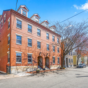 Spring Street brick building at an angle