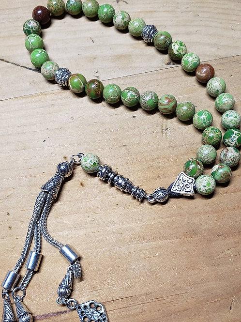 Green Emperor Stone Fidget Beads