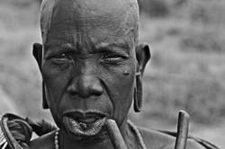 mursi elder, omo valley