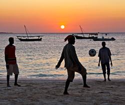 beach football, zanzibar