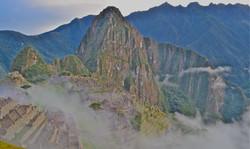 machu picchu, early morning mist