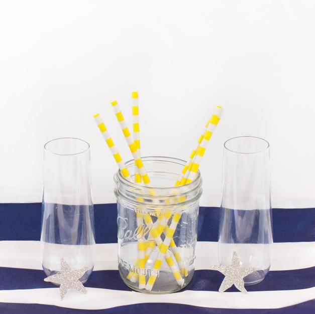 Yellow straws