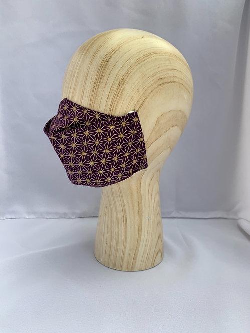 Purple/ Gold Asanoha 3D Mask