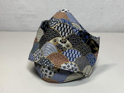 Seigaiha Patterns 3D Mask