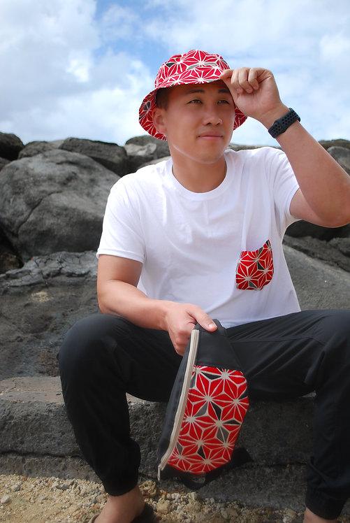 Red Asanoha Pocket T