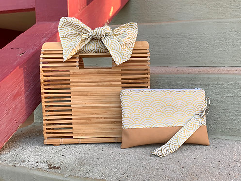 Square Bamboo Hand Bag