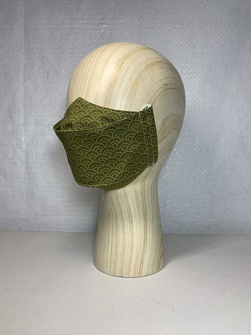 Green Seigaiha 3D Mask