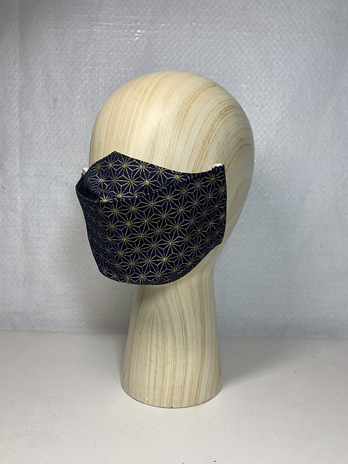 Blue/ Gold Asanoha 3D Mask