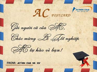Bưu điện ACTION - Bưu thiếp mừng ACers K52 tốt nghiệp