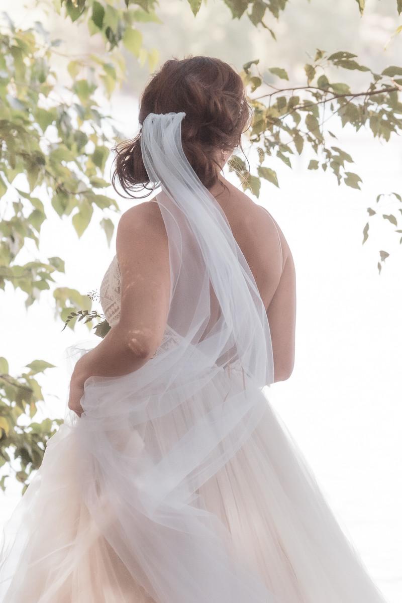light and airy wedding bride