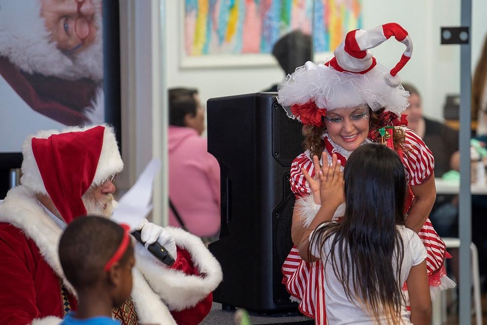 Santa and his helper Solano Town Center Fairfield CA