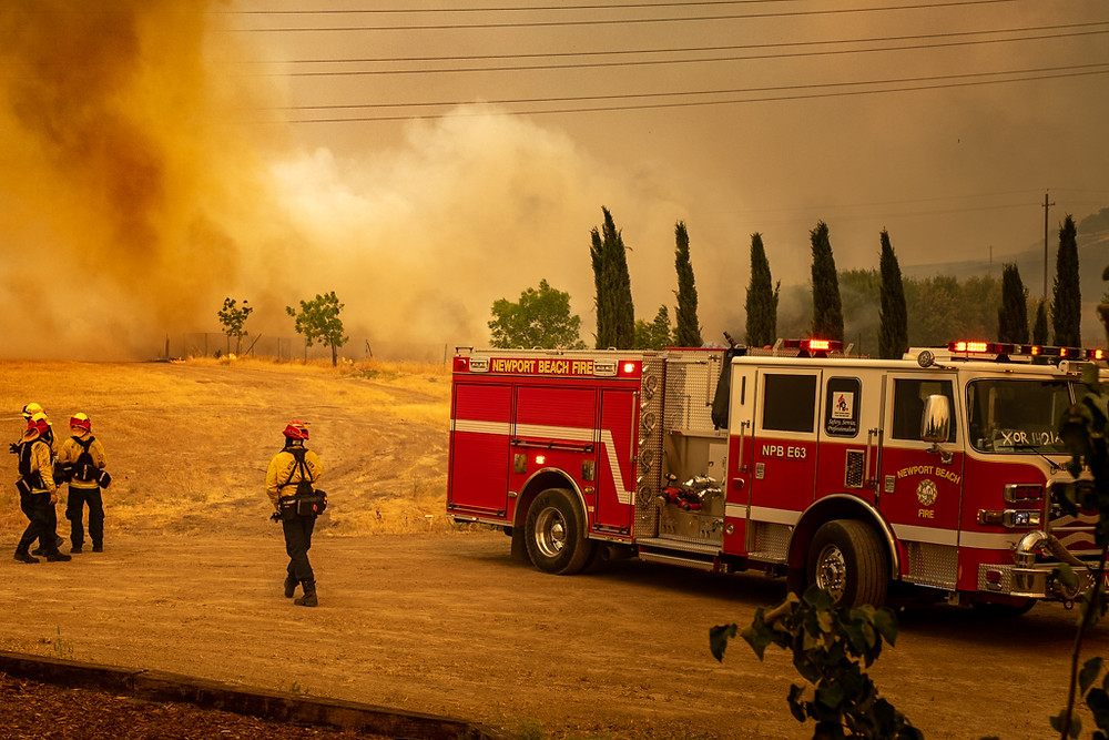 Vacaville LNU lightning complex fire