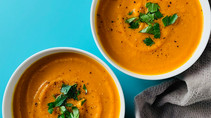 Chipotle Lime Carrot & Butternut Squash Soup (DF, GF, Vegan)