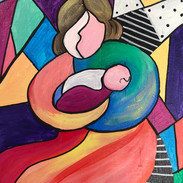 Cubist Mother & Child