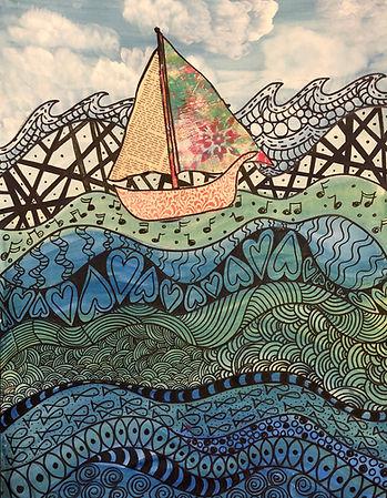 Sailing on a Doodle Sea