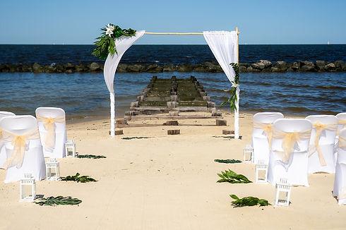 Beach Wedding Arch Virginia Beach Wedding Co