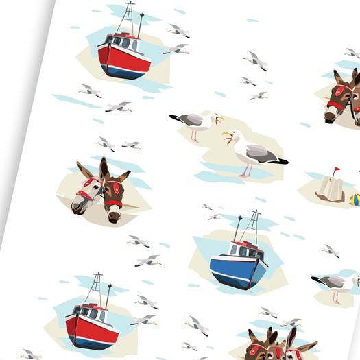 Donkey, Seagulls and Sandcastles