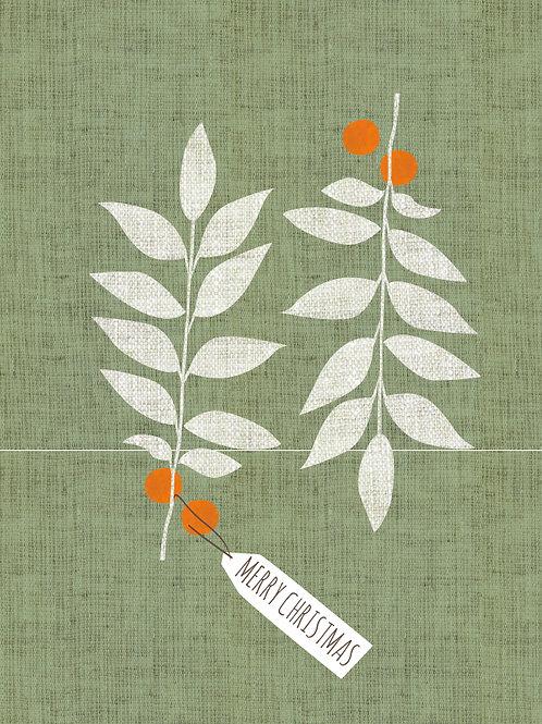 Christmas Twigs Card Design