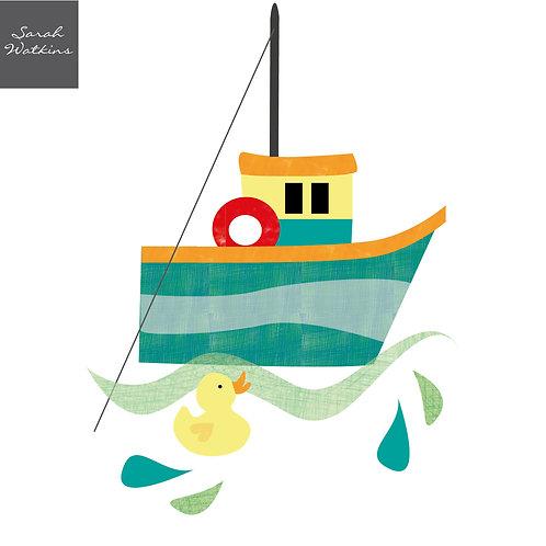 Bathtime Ducks Boat