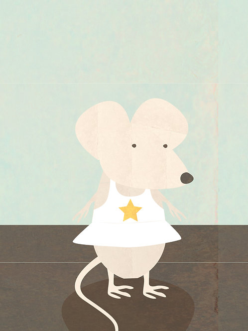 Little Mouse in a White Dress