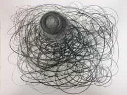 """One Liners, #18 Graphite on Paper 14"""" x 17"""" 8-31-15 .jpg"""