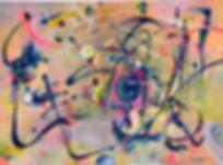 Cosmic Graffiti, Acrylic on Evolon 22_ x