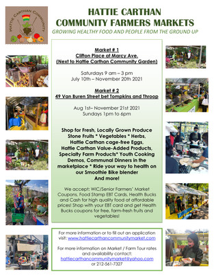 2021 Saturday and Sunday Market Announcement