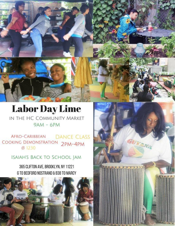 Join us for Labor Day Lime in the HC Community Market