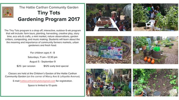 HCCG Tiny Tots Gardening Program - Register Today