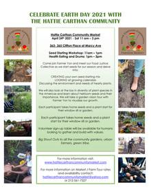 EARTH DAY CELEBRATION AT HC COMMUNITY MARKET April 24th 11am - 2pm