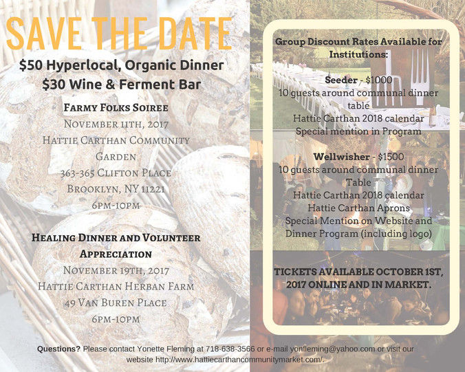Tickets for our Sunday Communal Dinner Still Available