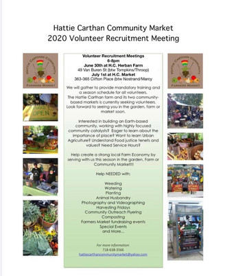 2020 Volunteer Recruitment Meeting