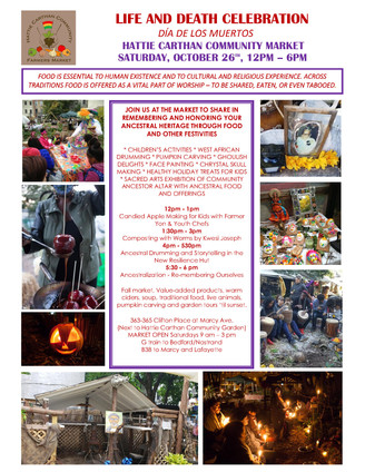 Join Us for our Annual Life and Death Celebration Oct 26th at the Saturday Market - 12PM - 6PM